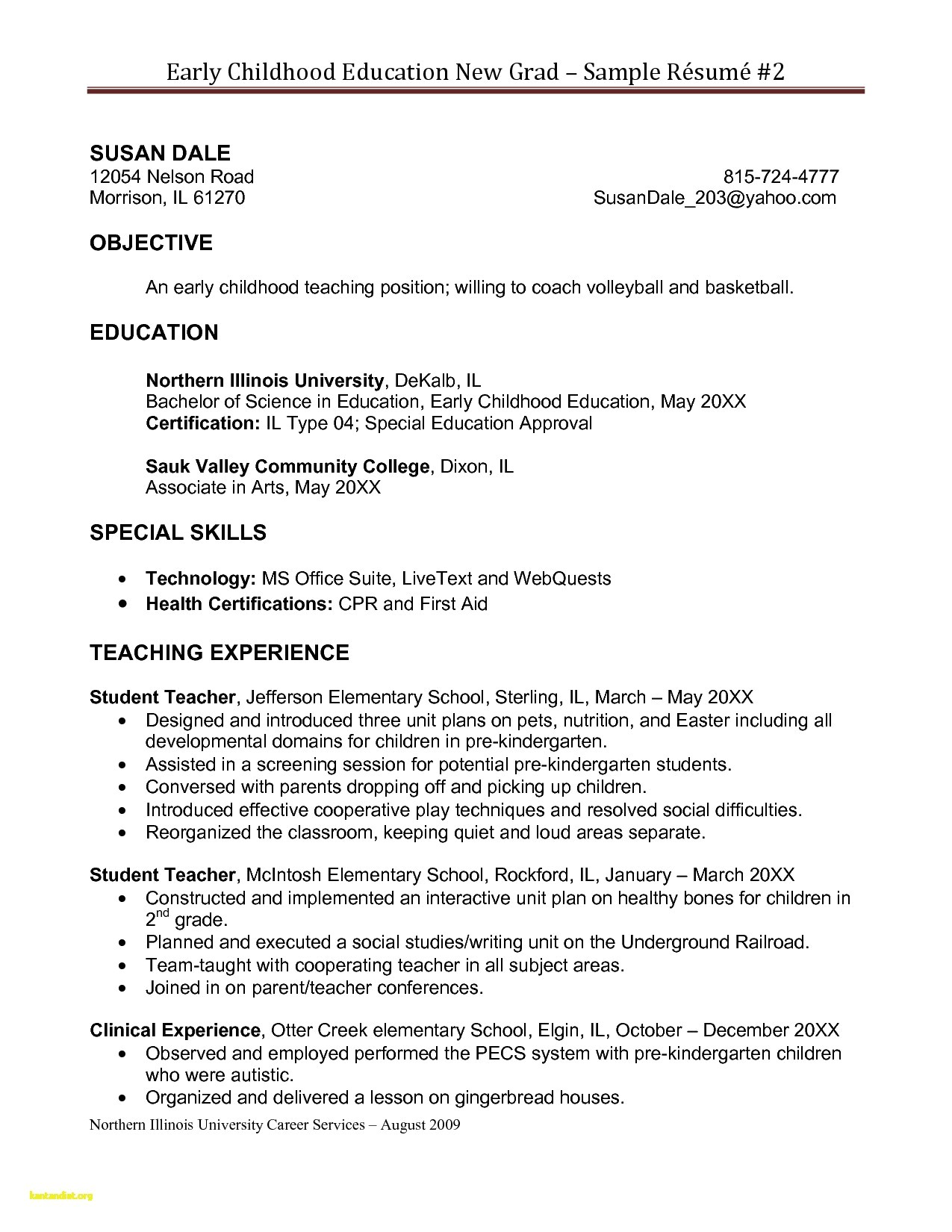 pre primary school teacher resume sample