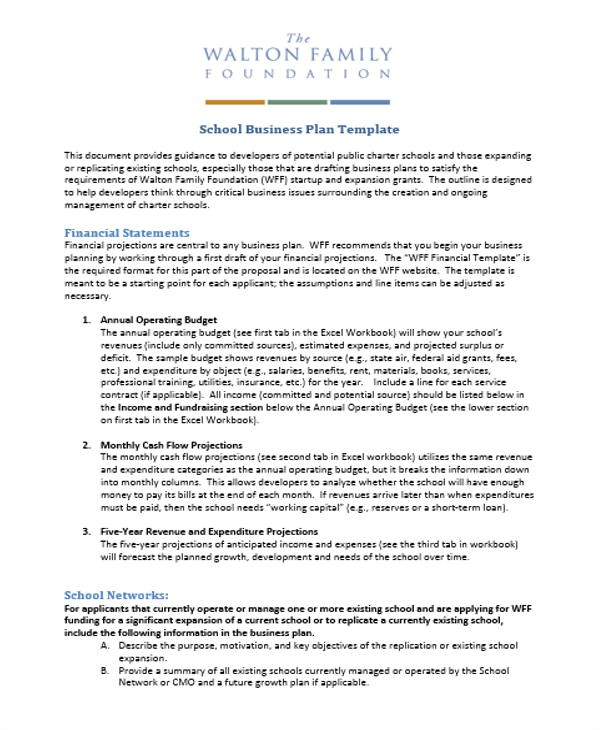 Private School Business Plan Template 29 Business Plan Templates Free Premium Templates