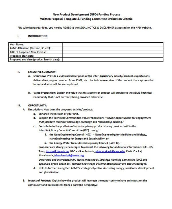 product business proposal