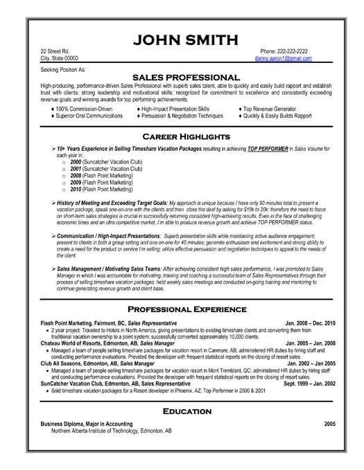 Professional Job Resume Template 59 Best Best Sales Resume Templates Samples Images On