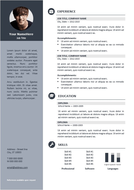 Professional Resume Design Templates orienta Free Professional Resume Cv Template