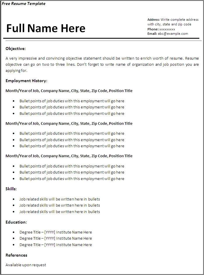 Professional Resume Templates Word Resume Templates Free Doliquid