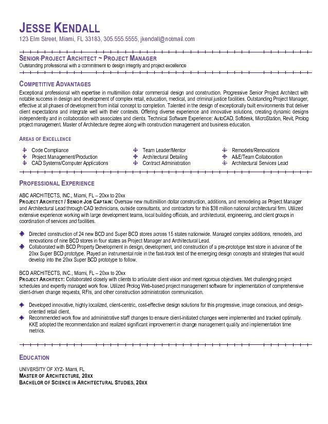 Project Architect Resume Sample Example Project Architect Resume Http topresume Info