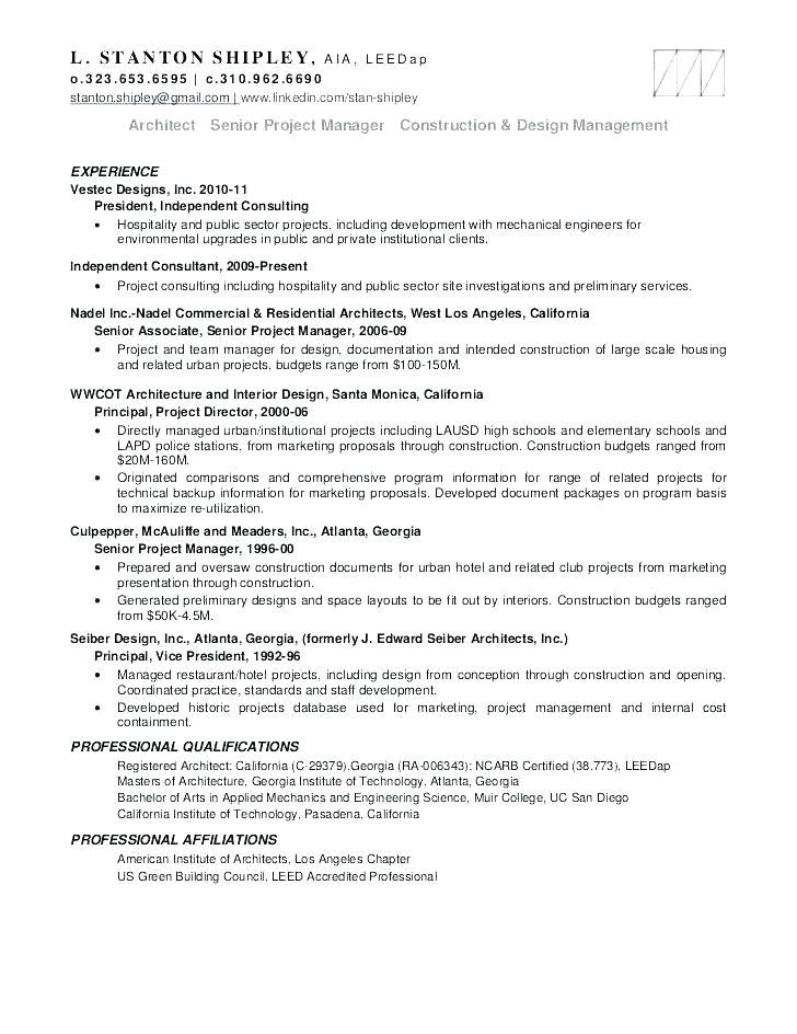 Project Architect Resume Sample Project Architect Resume Sample Megakravmaga Com