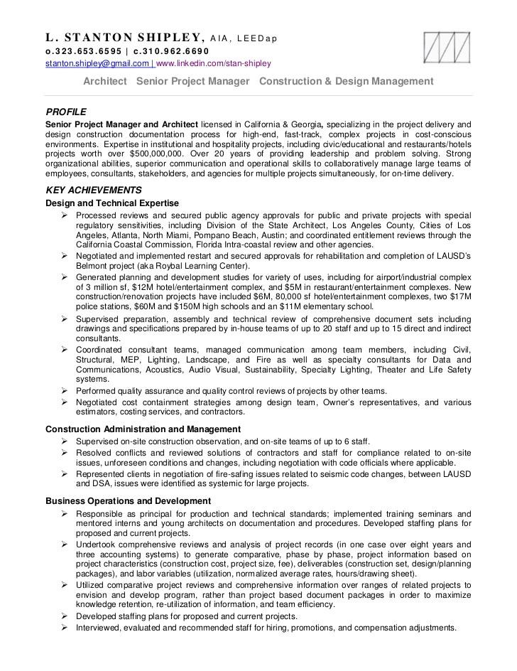stan shipley resume projects 11mr18