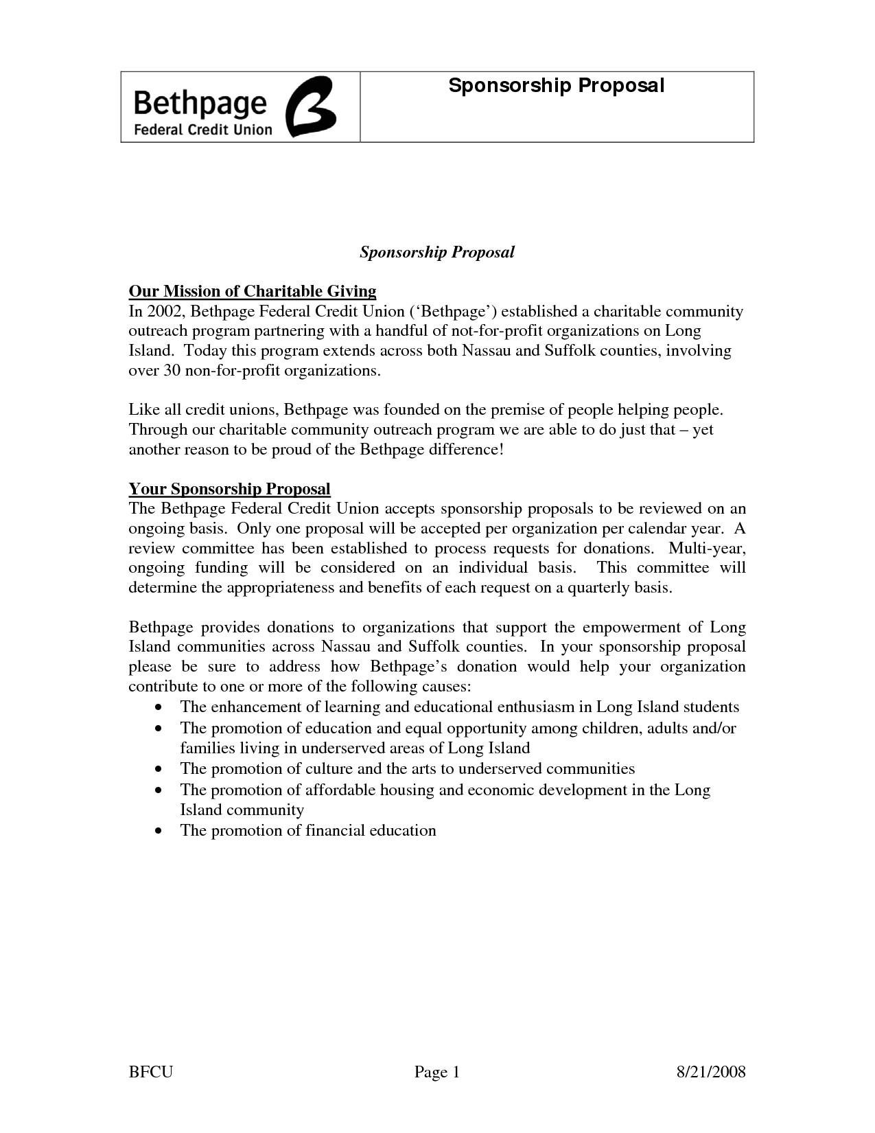 post non profit proposal template 616410