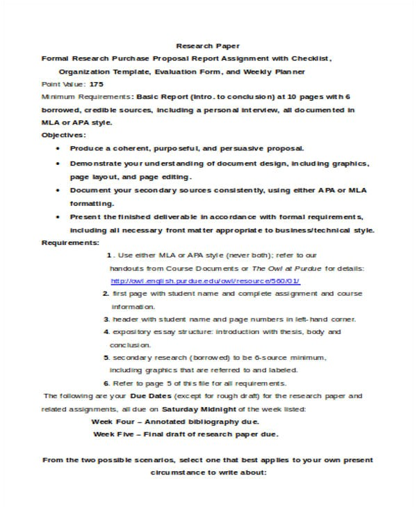 purchase proposal templates