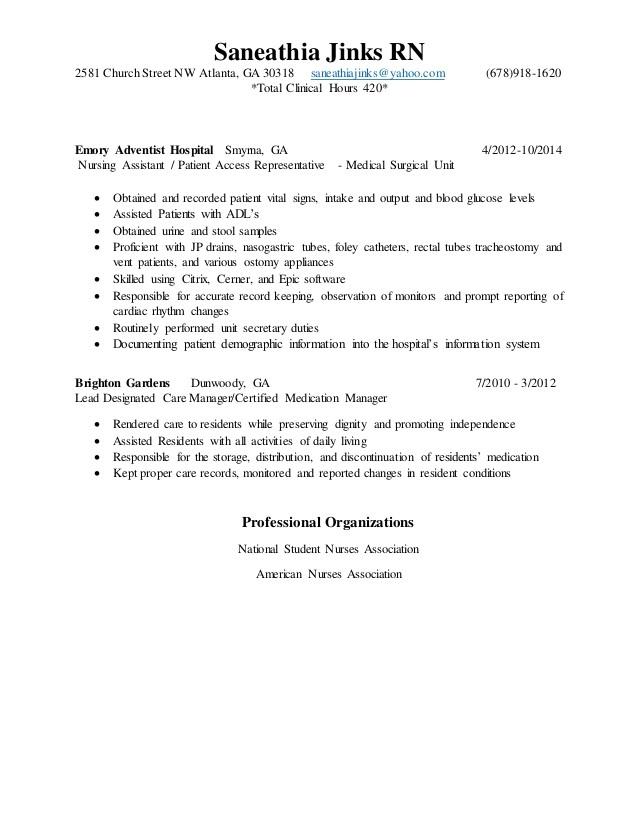 college grad resume