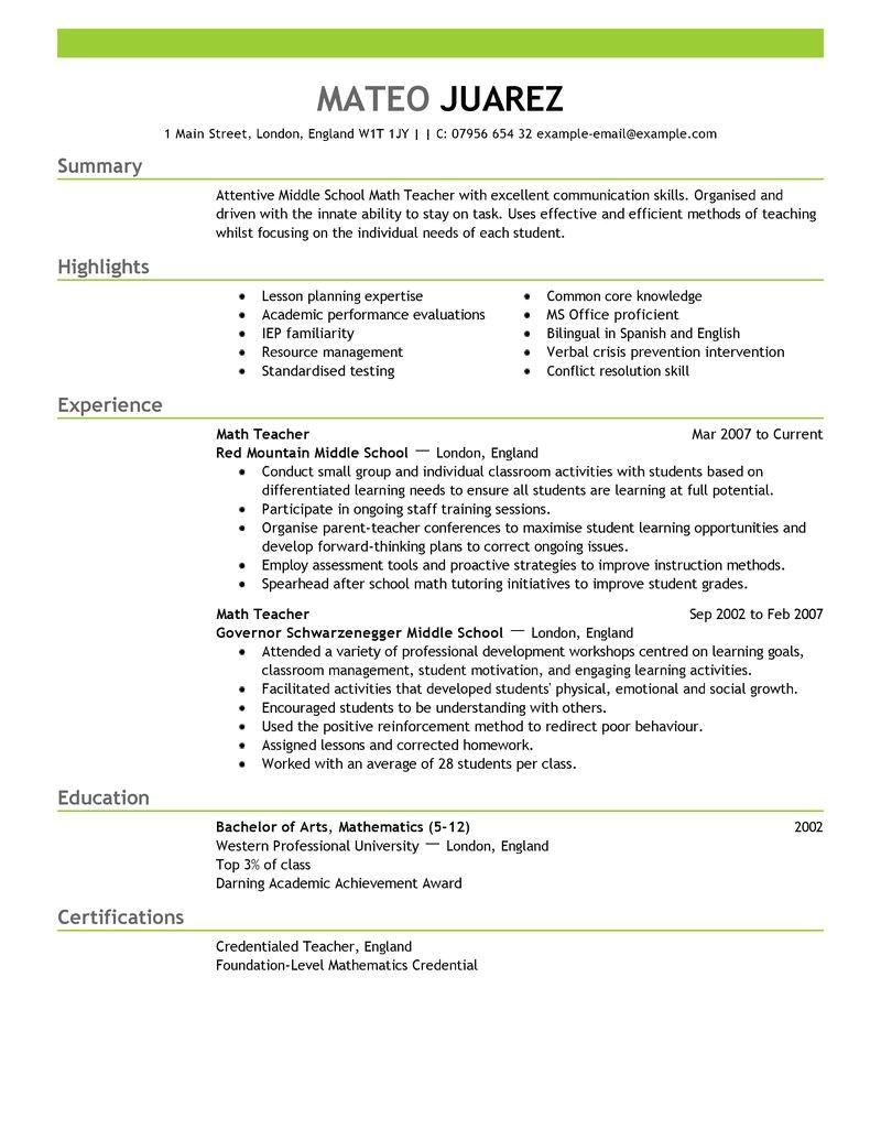 sample resume for teaching job fresher education quickstart teacher resume template free download