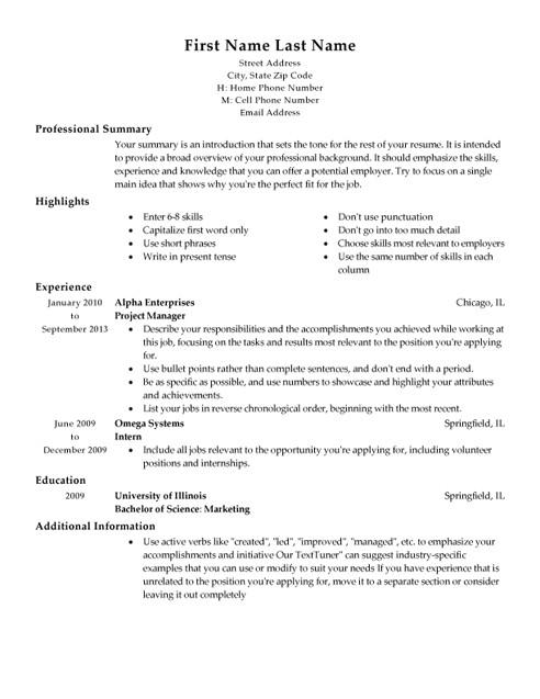 Quickstart Resume Templates My Perfect Resume Templates