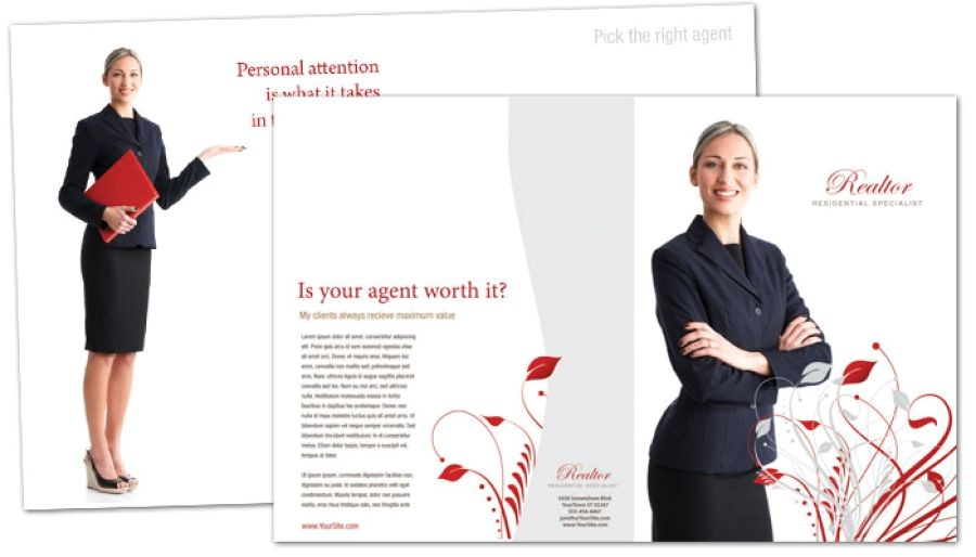 Real Estate Agent Brochure Templates Half Fold Brochure Template for Real Estate Agent order