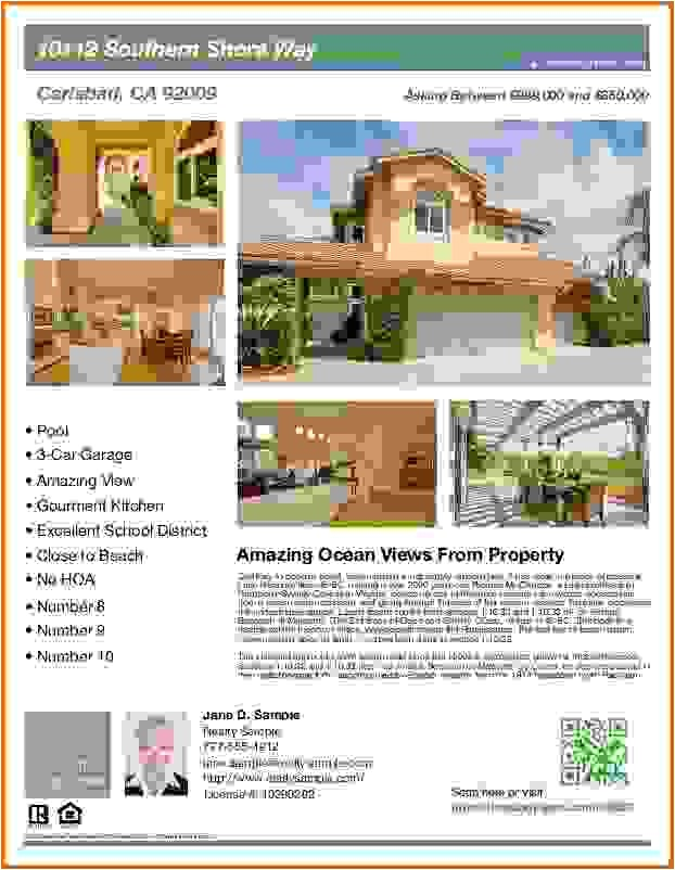 Real Estate Brochures Templates Free Real Estate Flyer Templates Freereference Letters Words