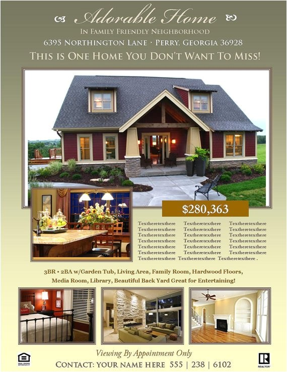 real estate flyer template microsoft