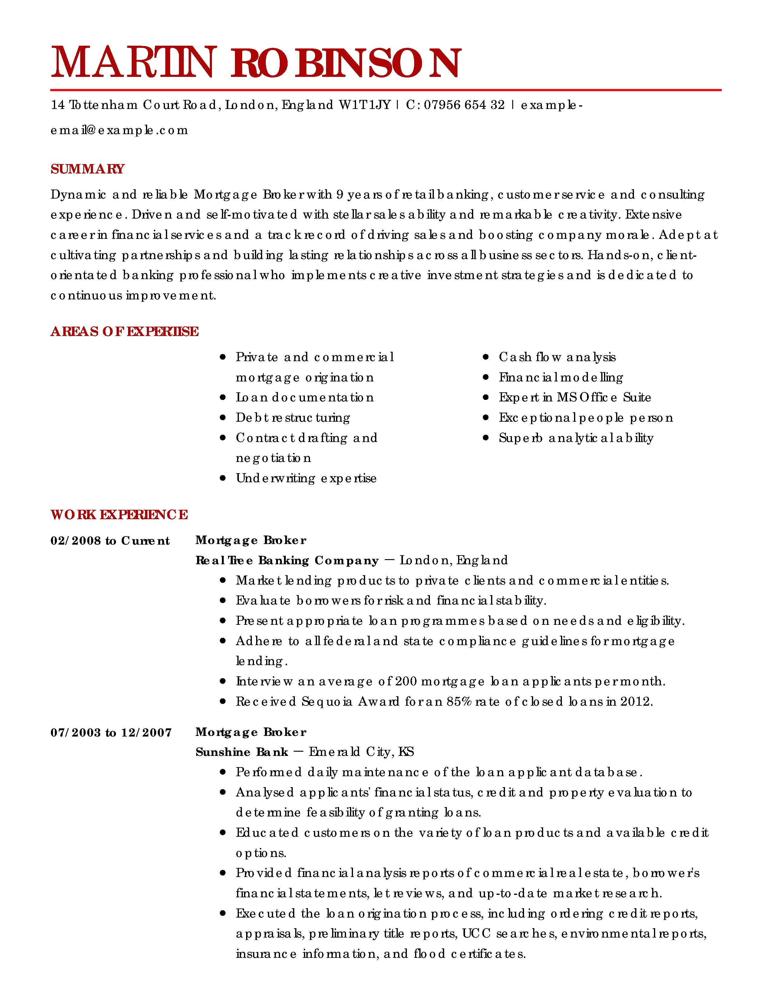 Real Estate Resumes Templates Amazing Real Estate Resume Examples to Get You Hired