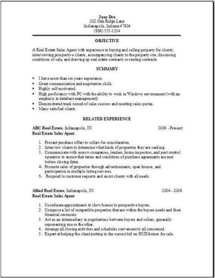 Real Estate Resumes Templates Real Estate Resume Whitneyport Daily Com