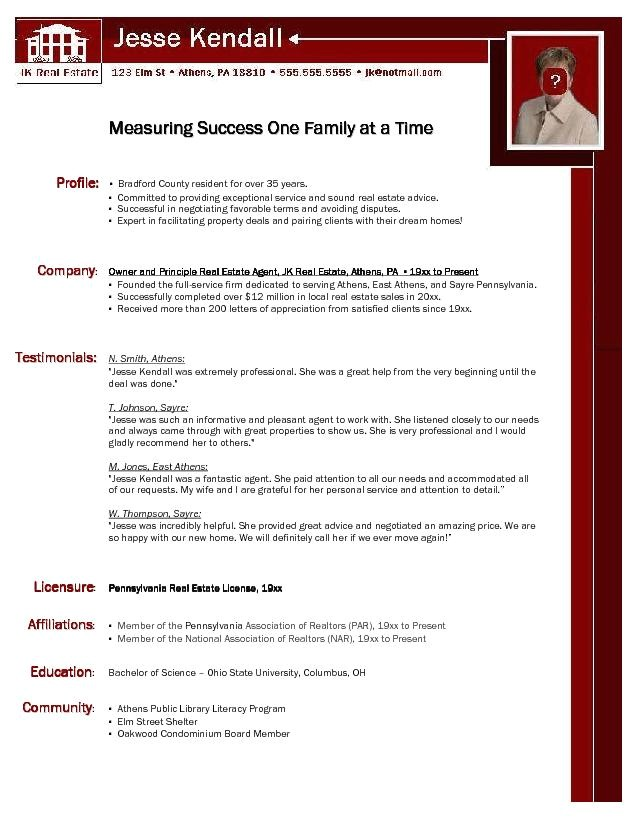 Real Estate Resumes Templates Real Estate Resumes Samples Sample Resumes