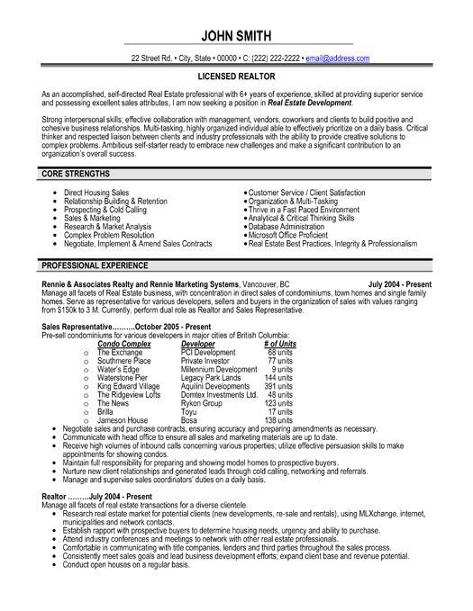 Real Estate Resumes Templates top Real Estate Resume Templates Samples