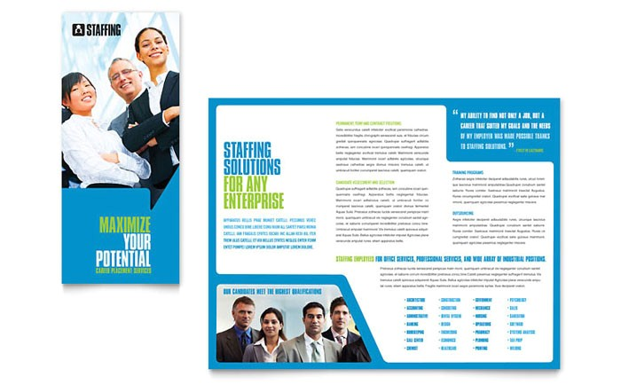 staffing recruitment agency brochure template design pn0060101