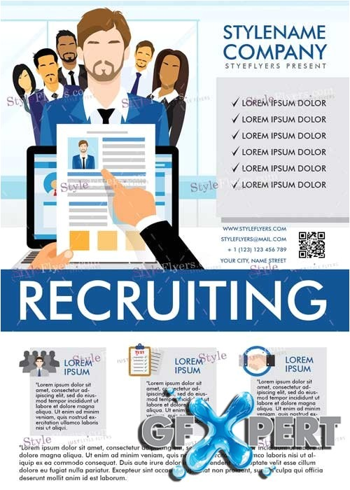 11781 recruiting v5 psd flyer template
