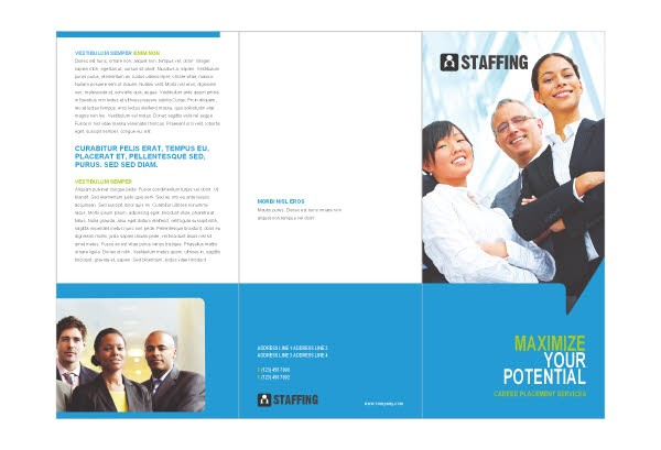staffing recruitment agency brochure template