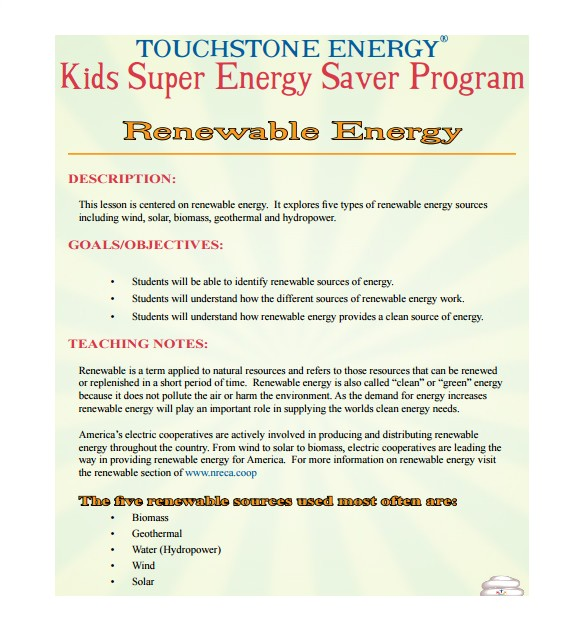 Renewable Energy Business Plan Template Elementary Lesson Plan Template 10 Free Sample Example