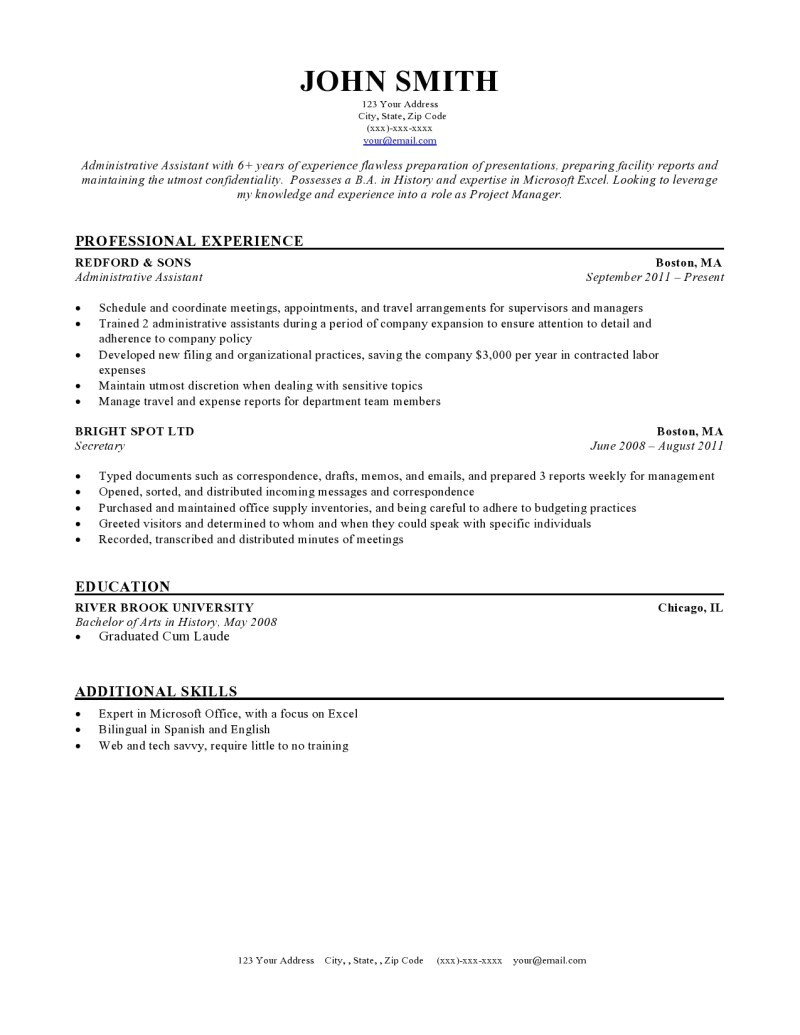 Resumè Template Expert Preferred Resume Templates Resume Genius