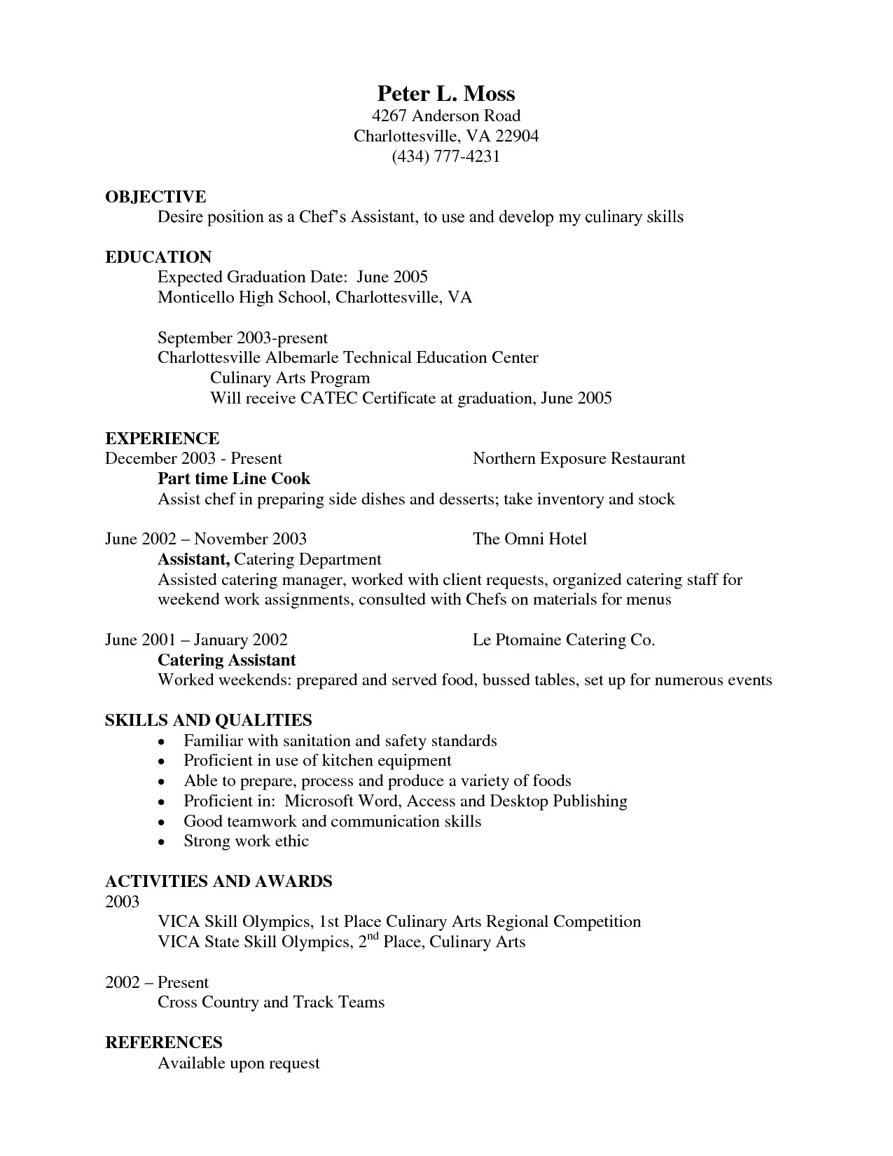 expected graduation date resume