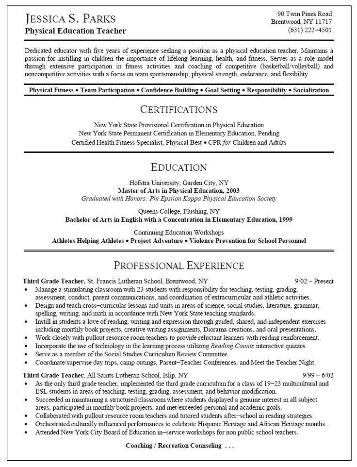 middle school english teacher resume builder