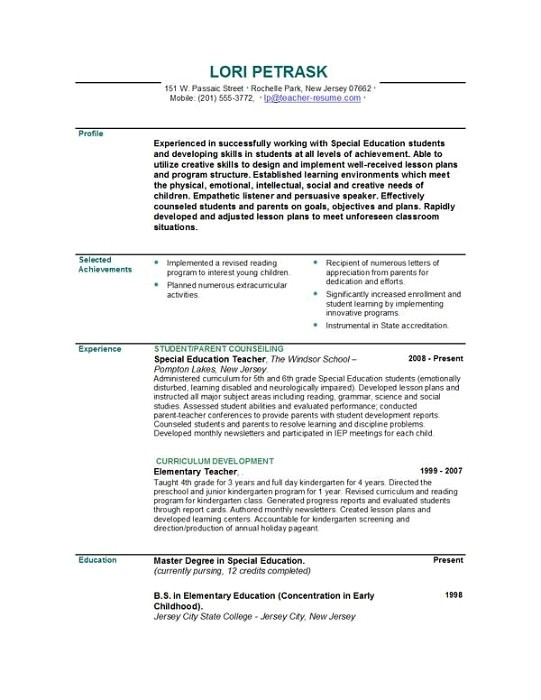 Resume Builder Template for Teachers 301 Moved Permanently