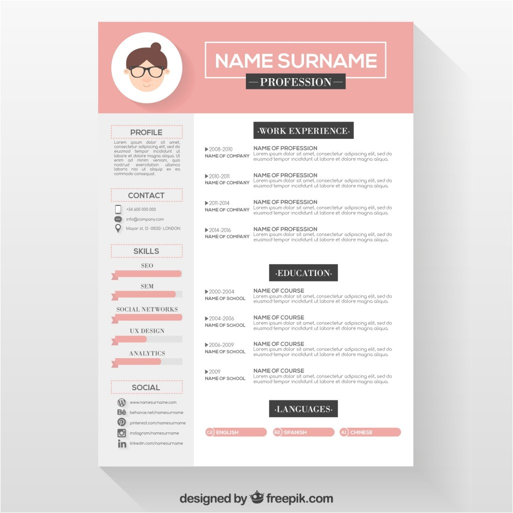 Resume Designs Templates 10 top Free Resume Templates Freepik Blog
