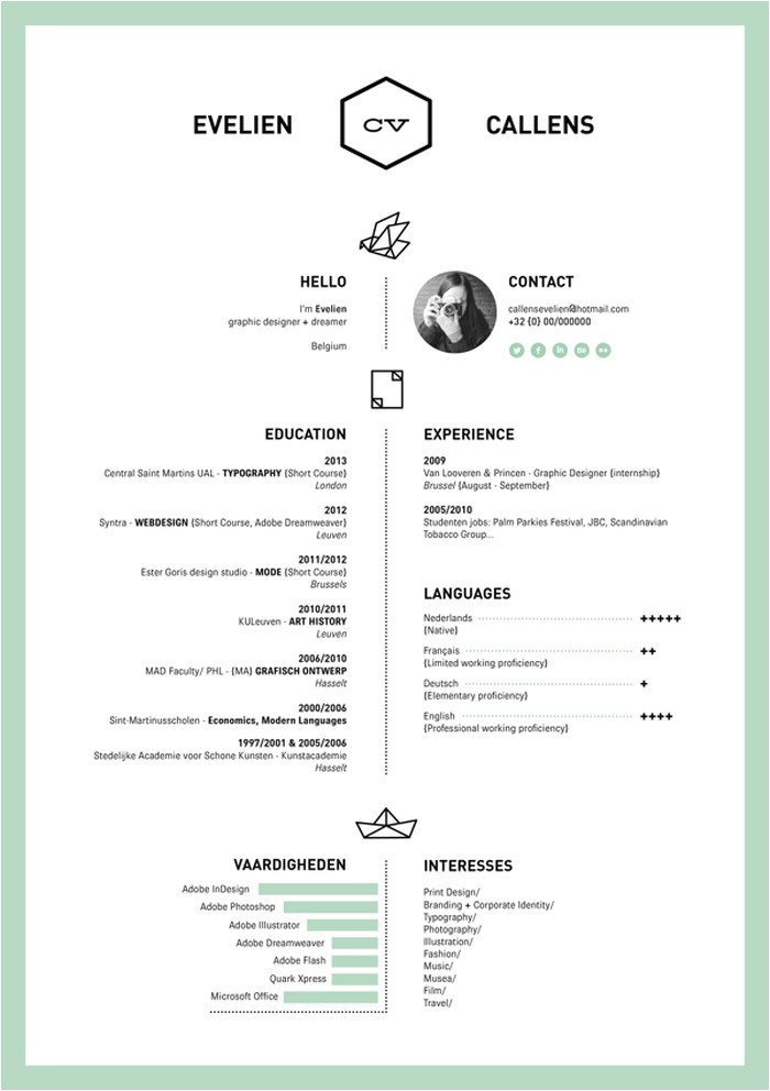 awesome cool cv resume template designs