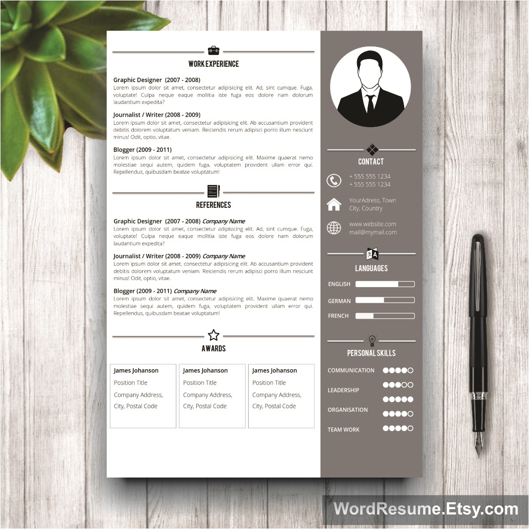 Resume Designs Templates Professional Resume Template Design Jeff T Chafin