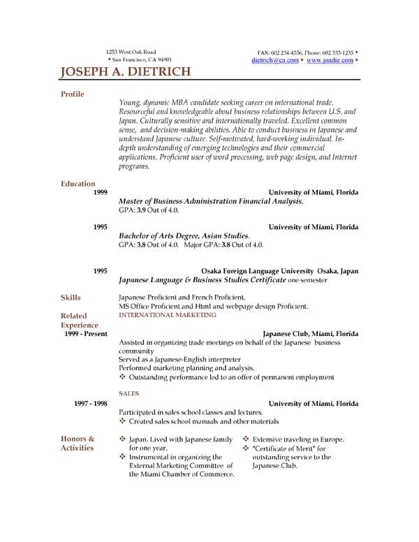 Resume format Template Download 85 Free Resume Templates Free Resume Template Downloads