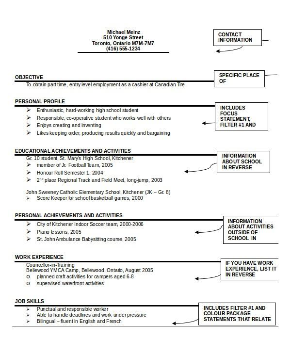 Resume format Template Pdf 26 Best Resume formats Doc Pdf Psd Free Premium