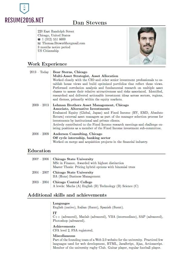 curriculum vitae samples pdf template
