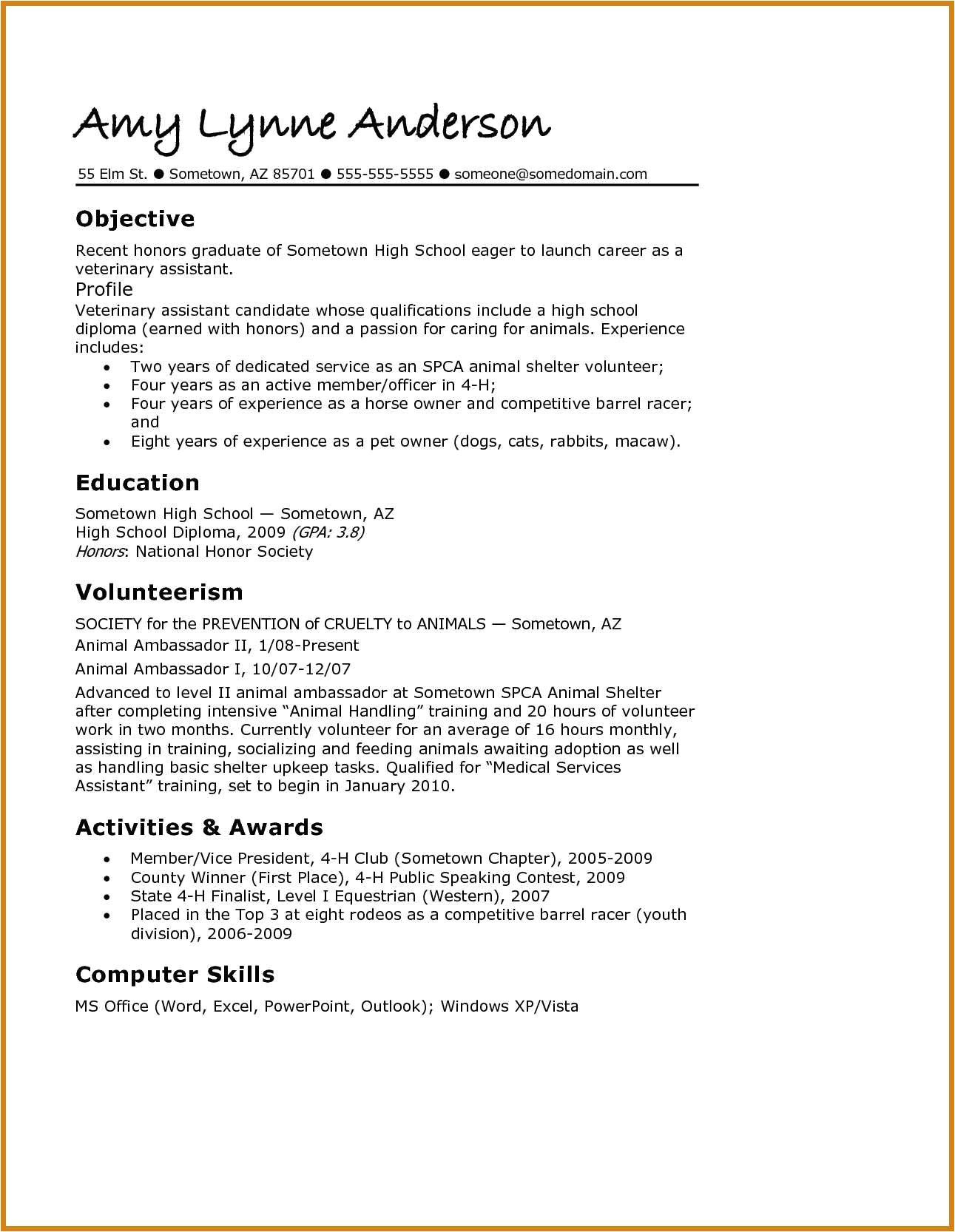 grad school resume template