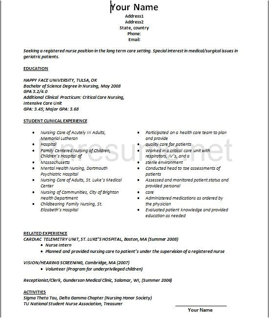 Resume Sample for Nurses Fresh Graduate Lpn Resume Sample New Graduate Best Resume Collection