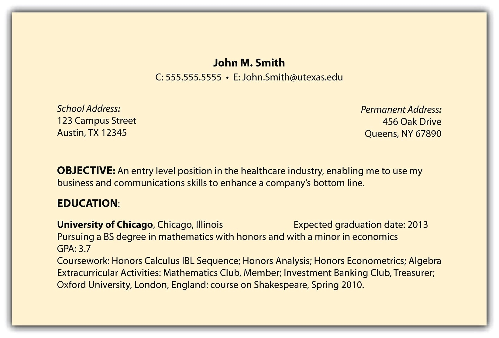 Resume Sample Objectives Career Objective On Resume Template Resume Builder