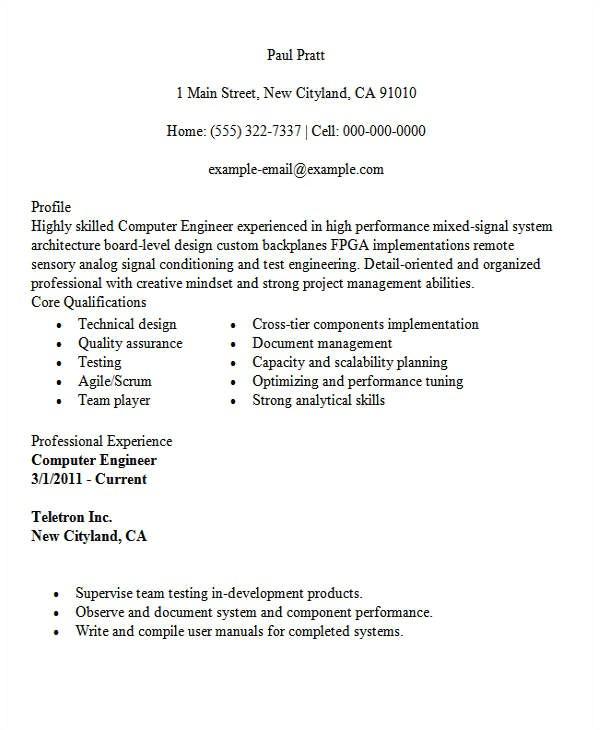 Resume Samples for Computer Engineering Students 30 Modern Engineering Resume Templates Free Premium