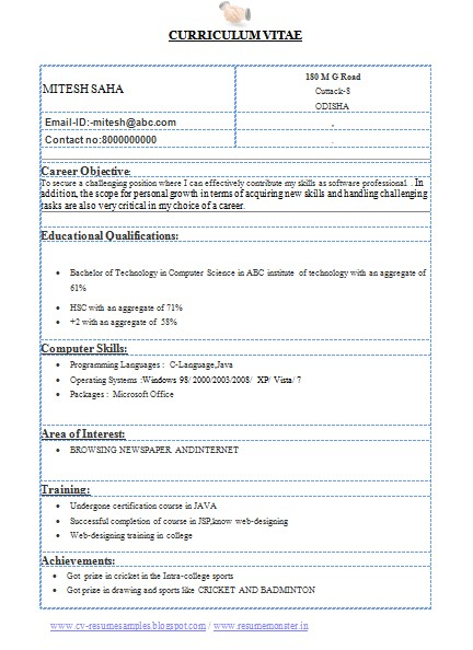 Resume Samples for Computer Engineering Students Over 10000 Cv and Resume Samples with Free Download