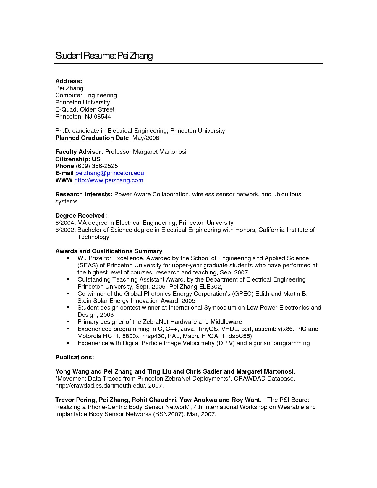 Resume Samples for Computer Engineering Students Resume for Computer Engineering Students Resume Ideas