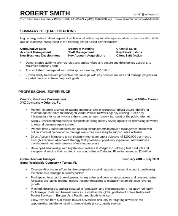 Resume Samples for Experienced software Professionals 7 Professional Resume Examples Sample Templates