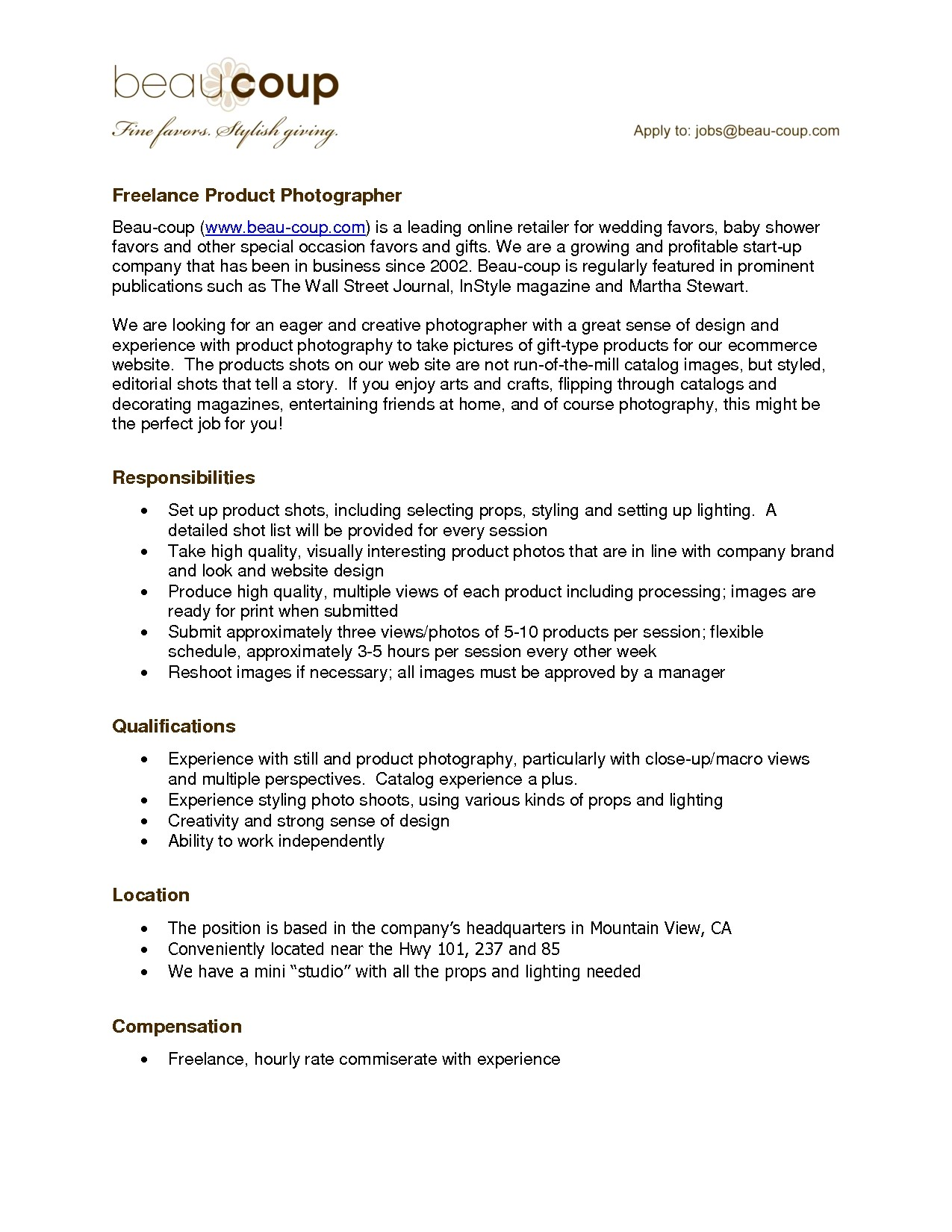 sample resume photography proposal template