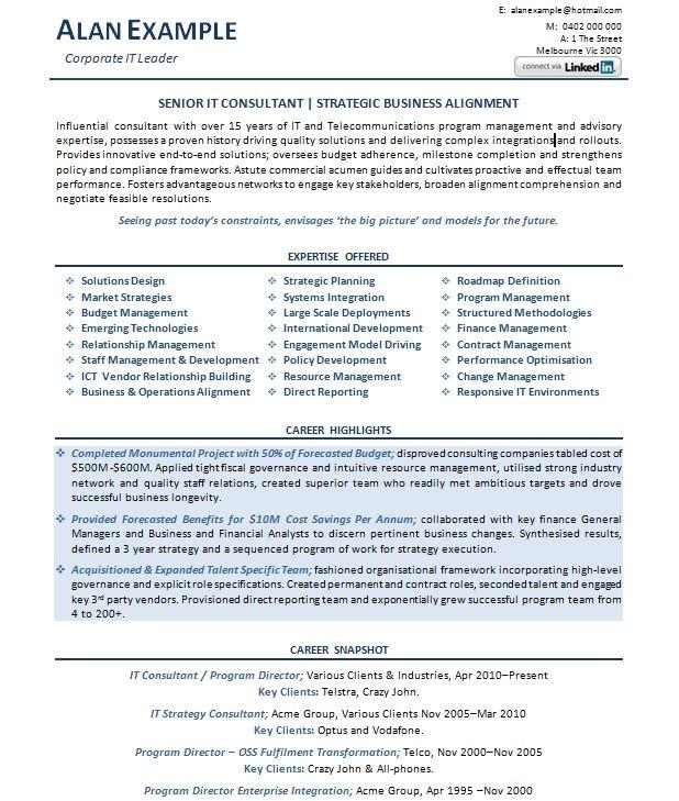 australian resume sample 4095