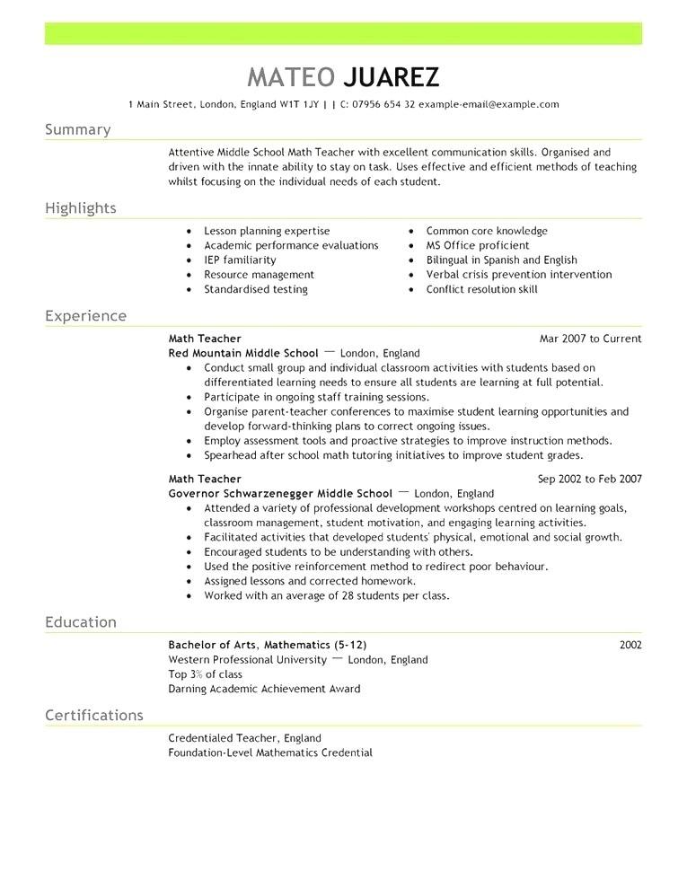 resume template australia 2018