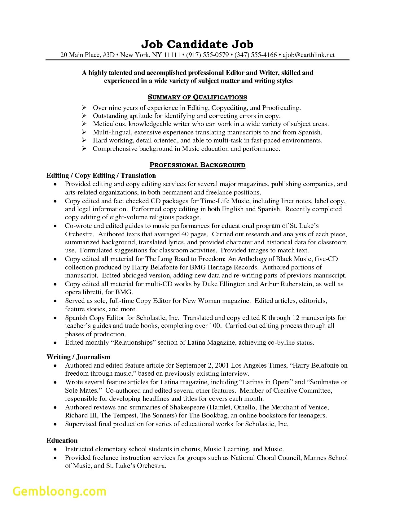 resume templates you can edit