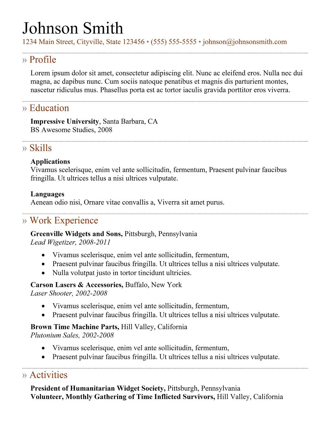 9 best free resume templates download