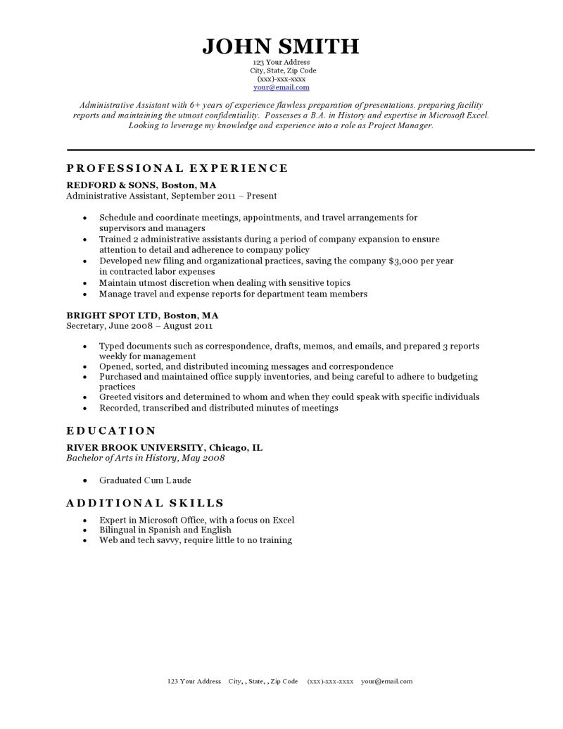 Resume Template for It Expert Preferred Resume Templates Resume Genius