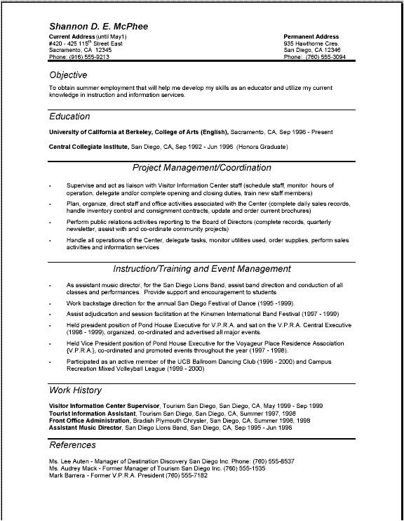 best professional resume format 4364