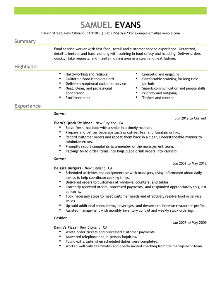 Resume Template for It Resumes Resume Cv Example Template
